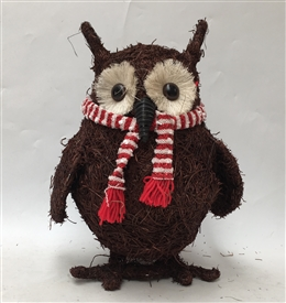 Brushwood Christmas Owl Decoration 28cm