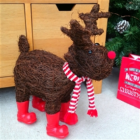 Brushwood Christmas Reindeer with Red Boots 42cm