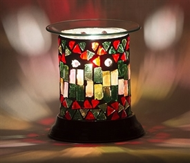 Electric Oil Warmer Straight Morrocan Mosaic