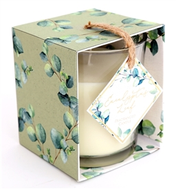 Eucalyptus Glass Candle in Open Box 10cm