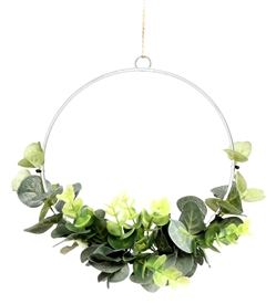Eucalyptus Hanging Semi Wreath 20cm