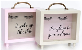 Eyelash Money Box 2 Assorted 20cm