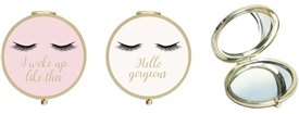 Eyelash Compact Mirror 2 Assorted 7cm