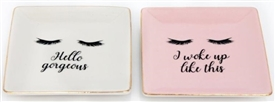 Eyelash Trinket Dish 2 Assorted 12.5cm