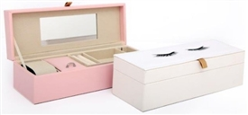 Eyelash Design Jewellery Box 2 Assorted 28cm