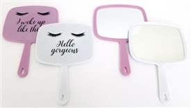 Eyelash Design Hand Mirror 2 Assorted 35cm