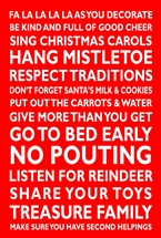 Christmas Rules Message Plaque