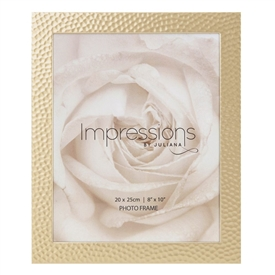 Impressions Juliana Gold Hammered Photo Frame 8x10