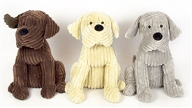 Ribbed Doggy Doorstop 3 Assorted 28cm