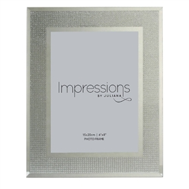 Impressions Juliana Silver Crystal Photo Frame 6x8