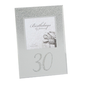 Silver Glitter Birthday Photo Frame � 30