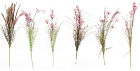 Dusky Pink Wild Flower Single Stem 56cm