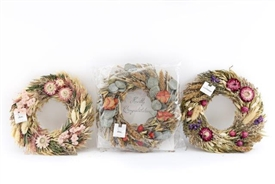 Scented Floral Wreath 3 Assorted 24cm