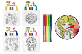 Kids Tote Bag With Pens 4 Assorted