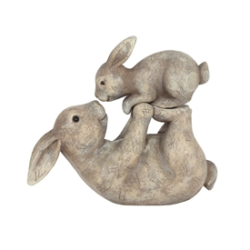 Bunny With Child Ornament 11cm