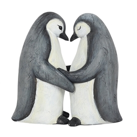 Penguin Couple Ornament 11cm