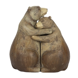 Bear Couple Ornament 12cm