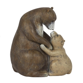 Bear With Child Ornament 11cm