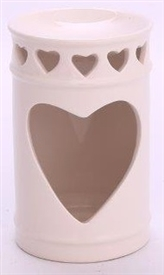 Heart Cut Out Oil Burner 14cm