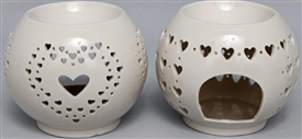 Heart Cutout Oil Burner 11cm