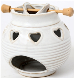 Heart Oil Burner With Pot