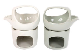 2 Piece Porcelain Oil Burner Set 11.7cm 2 Assorted Colours