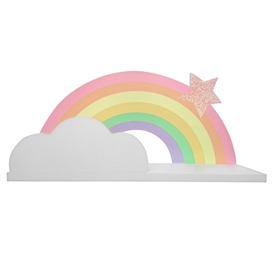 Wooden Rainbow Shelf 48cm