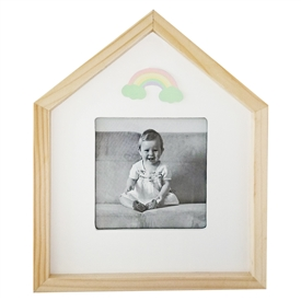 Rainbow Wooden Photo Frame 22cm