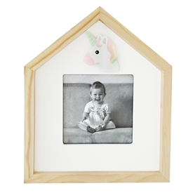 Unicorn Wooden Photo Frame 22cm