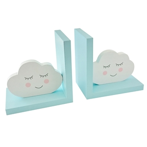 Blue Clouds Bookends Set of 2