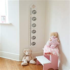 Magnetic Height Chart With Photo Frames - Unicorn
