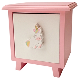 Unicorn Single Drawer Keepsake Cabinet
