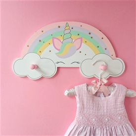 Rainbow Unicorn Coat Hanger Wall Hooks
