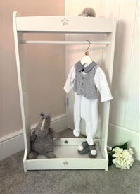 Wooden Children's Clothes Stand with Star Cutout (90cm H)