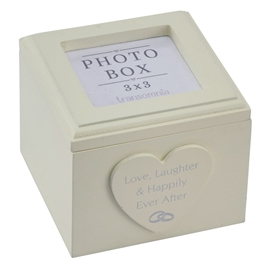 Wedding Keepsake Box With Photo Lid