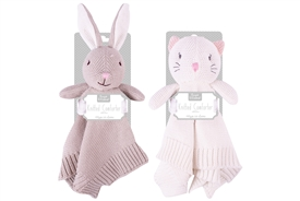 Knitted Bunny And Cat Comforter