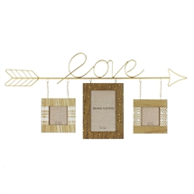 Moroccan MDF Triple Hanging Frames With Love Arrow