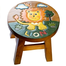Safari Animals Lion Stool 24cm