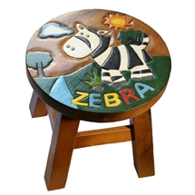 Safari Animals Zebra Stool 24cm