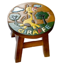 Safari Animals Giraffe Stool 24cm