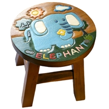 Safari Animals Elephant Stool 24cm