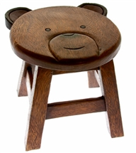 Wooden Bear Stool 24cm