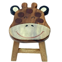 Wooden Giraffe Cutout Stool 24cm