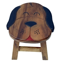 Wooden Dog Stool 24cm