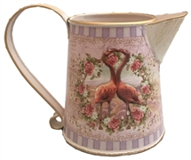 Flamingo Heart Metal Jug 12.5cm