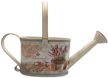 REDUCED, LIMITED TIME ONLY<p>Large Lavender Metal Watering Can 32cm