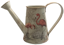 REDUCED, LIMITED TIME ONLY<p>Antique Maps Flamingo Watering Can 25cm