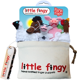 Farmyard Finger Puppets Gift Bag Set