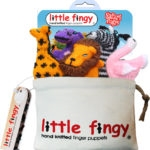 Safari Finger Puppets Gift Bag Set