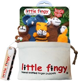 Jungle Finger Puppets Gift Bag Set